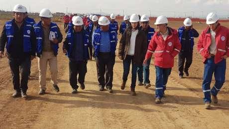 A construção do complexo está sendo feita com apoio russo