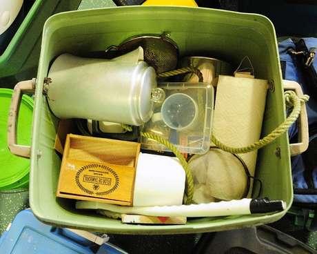 Uma cafeteira estava entre os artigos que foram encontrados no acampamento de Knight