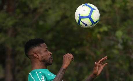 Ramires participou de aquecimento com o restante do elenco (Foto: Agência Palmeiras/Divulgação)