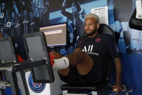 Neymar se reapresentou ao PSG (Foto: Reprodução)