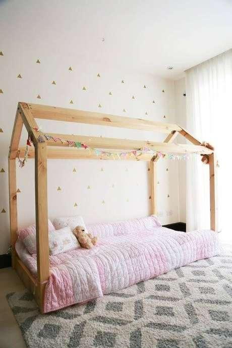 3. Apesar de ser possivelmente o modelo mais popular, a cama montessariana não precisa necessariamente ser uma casinha