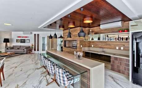 14. Equipe o seu espaço gourmet de acordo com a sua decoração. Projeto de Espaço do Traço