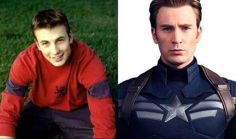 O nosso Capitão América, Chris Evans, iniciou sua carreira como ator nos anos 2000 na série televisiva