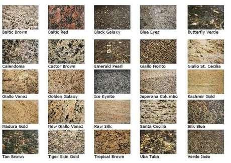 18. Essas são algumas das cores de granito facilmente encontradas. Projeto de Construction Review Online