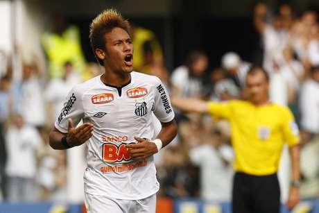 Neymar pelo Santos em 2011