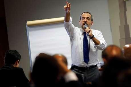 Ministro da Educação, Abraham Weintraub, durante fala em Brasília