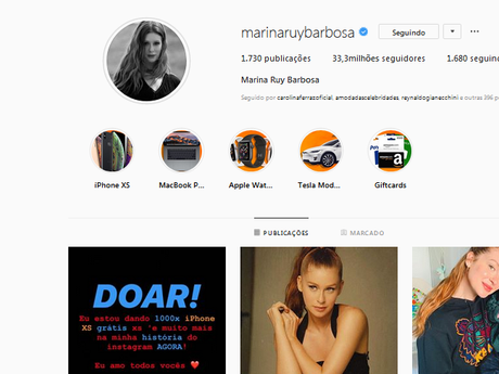 Marina Ruy Barbosa teve Instagram hackeado pela segunda vez em pouco mais de 24h
