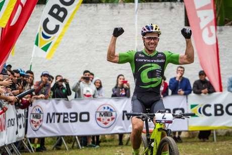 Henrique Avancini durante conquista do Campeonato Brasileiro de XCO em 2018 (Foto: Fábio Piva)