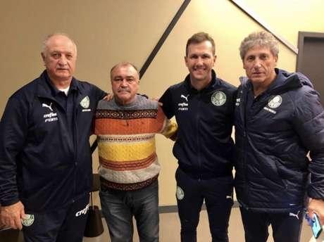 Felipão, Murtosa, Paulo Turra e Carlos Pracidelli juntos (Foto: Reprodução/Instagram)