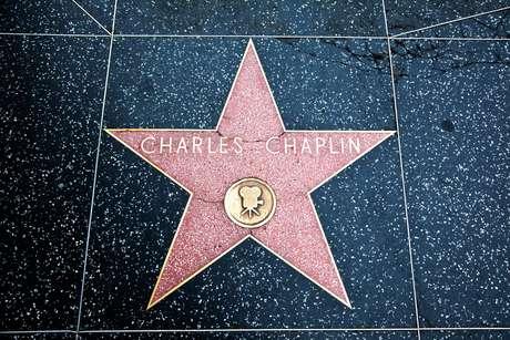 Estrela de Charles Chaplin na Calçada da Fama em Hollywood