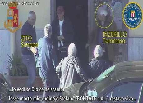 Registro em vídeo mostra membros do clã de Passo di Rigano, em Palermo
