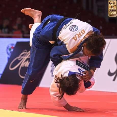 Rafaela Silva em ação durante o Grand Prix de Budapeste