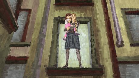 Ilustração de uma mulher com criança no colo