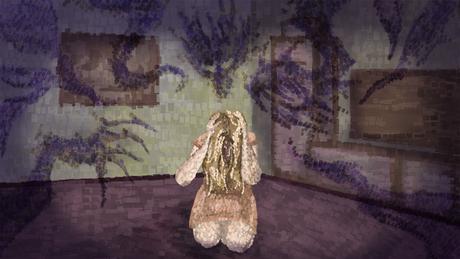 Ilustração de mulher com mãos na cabeça