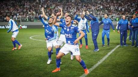 O time azul vence o Galo pela segunda vez em 2019 em uma disputa de mata-mata (Mourão Panda/Ofotografico)