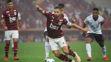 Diego na eliminação do Flamengo (Foto: Alexandre Vidal/Flamengo)
