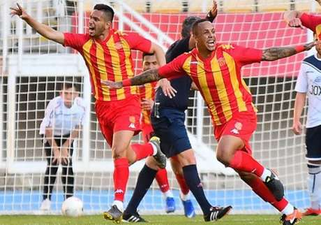 Bainor e Robinho defendem clube da Macedônia (Foto: Reprodução)