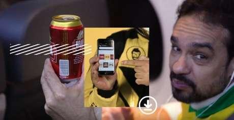 Torcedores pediram bebidas pelo celular e receberam durante os voos na Copa América (Foto: Divulgação)