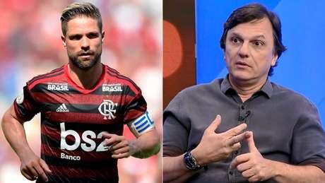 Mauro Cezar Pereira criticou Diego durante programa na ESPN (Foto: Reprodução)