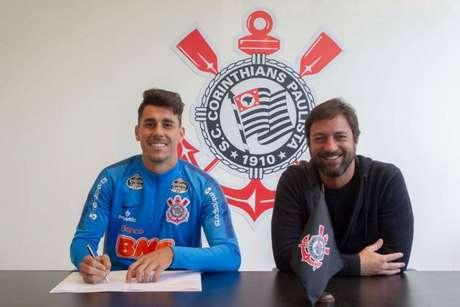 Avelar assinou com o Timão até o meio de 2022 (Daniel Augusto Jr. / Agência Corinthians)