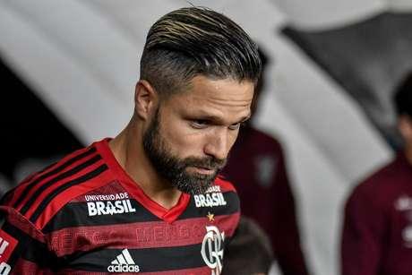 Diego durante Flamengo x Athletico PR, partida válida pelas quartas de final, jogo de volta da Copa do Brasil, realizada no estádio Maracanã, localizado na cidade do Rio de Janeiro