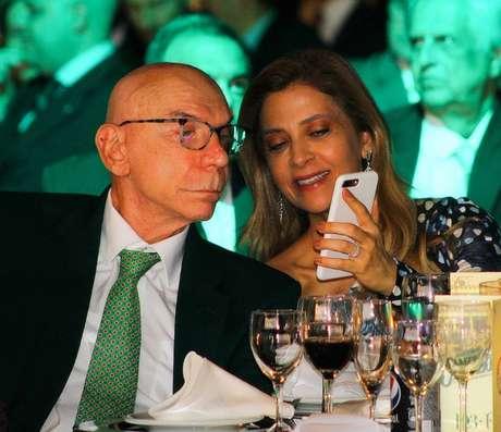 José Roberto Lamacchia e Leila Pereira não têm boa relação com Mustafá Contursi (Foto: Agência Palmeiras)