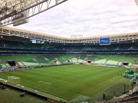 Palmeiras define destino na Libertadores no dia 30, contra o argentino Godoy Cruz, no Allianz Parque (Divulgação)
