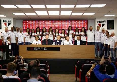 Apresentação do time de vôlei do São Paulo (Divulgação)
