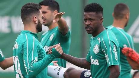 Ramires começou a treinar com o resto do elenco nesta semana e está à disposição (Agência Palmeiras/Divulgação)