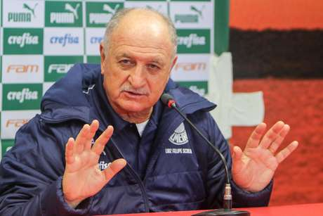 Técnico Luiz Felipe Scolari, do Palmeiras