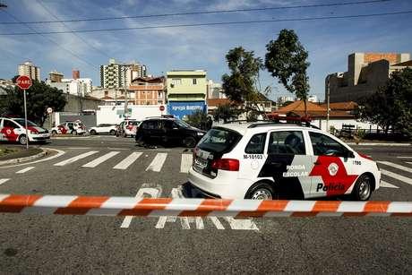 Dois criminosos ficaram gravemente feridos após assalto a banco em Santo André, no ABC paulista no dia 01/07/2019