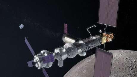 A Gateway seria um entreposto para os astronautas – e facilitaria uma ida a Marte no futuro
