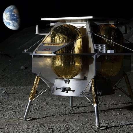 A Astrobotic é uma das empresas que faz projetos de equipamentos espaciais, como o dessa ilustração