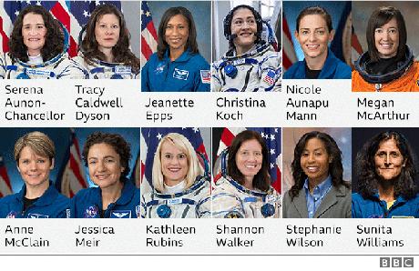 Há grande especulação sobre quem, entre as doze astronautas da Nasa, estará na próxima missão