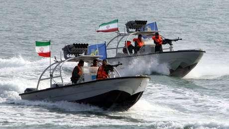Guarda Revolucionária Iraniana é responsável por patrulhar região do Estreito de Ormuz