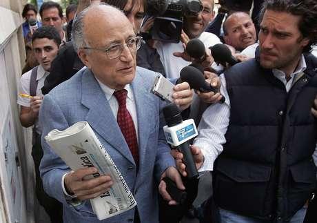 """Promotor Francesco Saverio Borrelli, da Operação """"Mãos Limpas"""" em 6 de junho de 2006"""