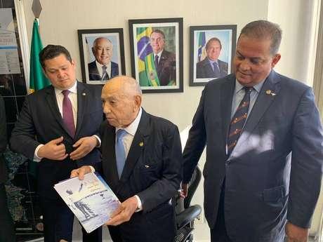 O agora senador Siqueira Campos, 'criador' do Estado de Tocantins