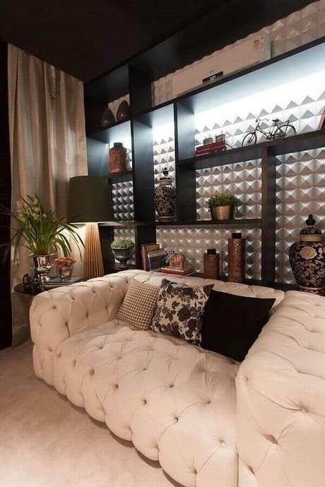 9. Antes de escolher os sofás modernos para sala pequena é importante medir todos os cantinhos do ambiente – Foto: FirePont