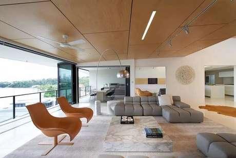 26. Os sofás modernos também são ótimos para decoração de salas sofisticadas – Foto: 3 Design