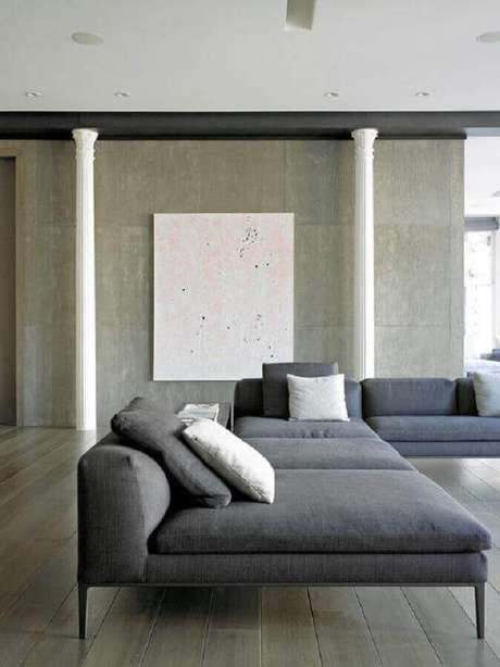 31. Modelo de sofá de canto moderno e amplo – Foto: Natalie Yang