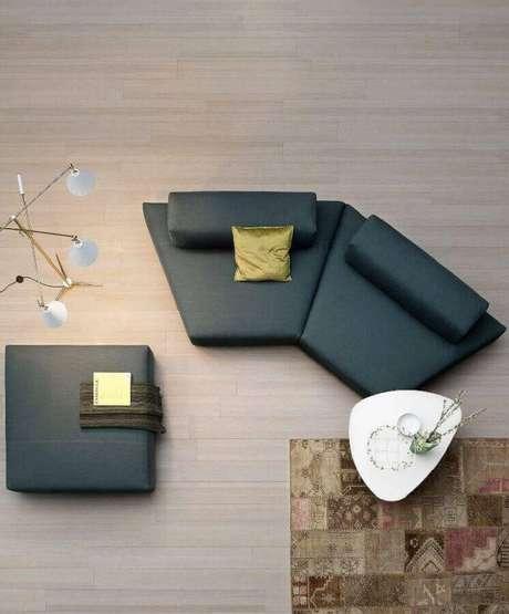 34. Modelos de sofás modernos visto de cima – Foto: Pinterest