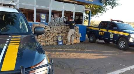 Quase 1 tonelada de maconha foi apreendida em falso ônibus escolar no Paraná