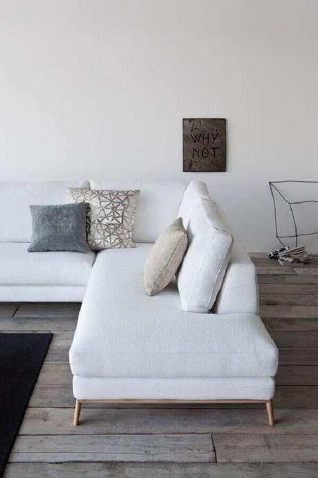 36. Sofá de canto modernos e branco – Foto: Campbell Watson