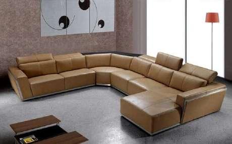 38. Decoração para sala ampla com sofá de canto modernos – Foto: Sectional Sofas