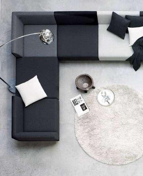 8. O sofá de canto moderno é perfeito tanto para ambientes amplos quando para salas pequenas – Foto: Neu dekoration stile