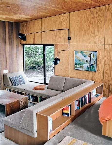 41. Sofás modernos para sala com móveis planejados – Foto: Bjørn Studio