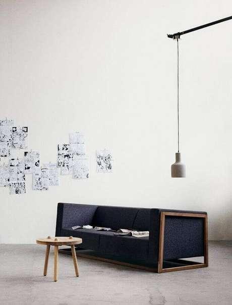 53. Modelos de sofás modernos com base de madeira – Foto: Cinque cose belle