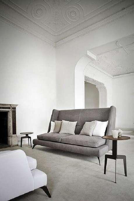 60. Modelos de sofás modernos para sala com decoração minimalista – Foto: Kobieta Gazeta