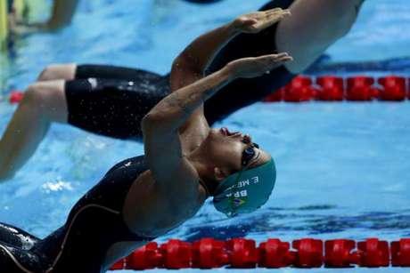 Etiene Medeiros está na final do Mundial de natação nos 50m costas (Foto:Satiro Sodré)