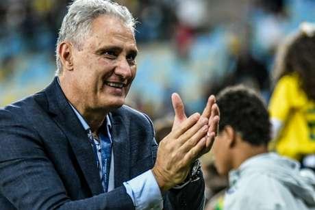 Técnico Tite durante comemoração do título da Copa América, após a partida entre Brasil e Peru